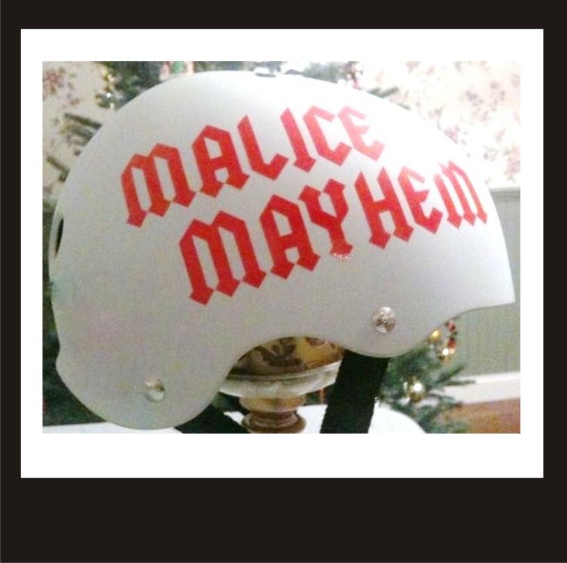Custom Roller Derby Vinyl Sport Helmet Decal Single Name Buy And - Custom vinyl motorcycle helmet decals